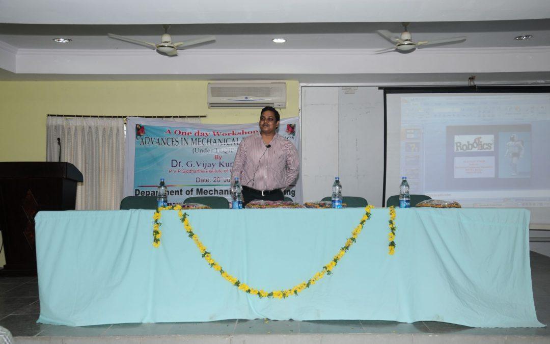 One Day Workshop on Adavances in Mechanical Engineering